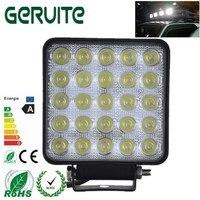 10 PCS 12-24 V Atacado 75 W LED Luzes Do Carro Quadrado Branco Fresco Luzes LED de Trabalho Ponto Do Feixe de 25 LEDS Offboard Barco Luzes Do Carro