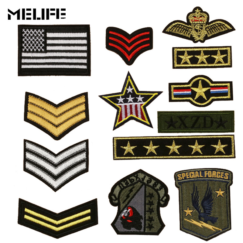 Hunting Accessories Patch U.S.ARMY EMBLEM Embroidered Patch Tactical Military Badges Army Fans Patches For Bag Clothing