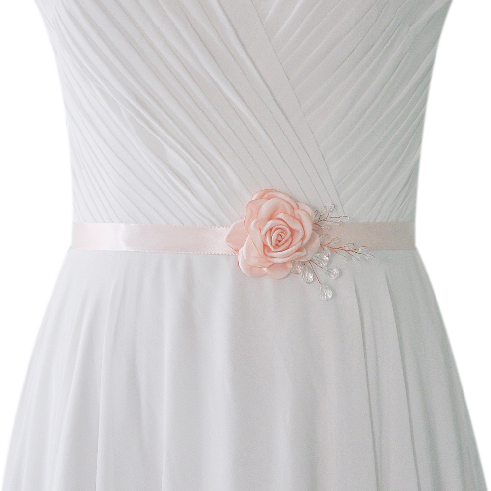Flower Belts For Wedding Dresses: More Colors ! Women Wedding Belts Ribbon Waistband With