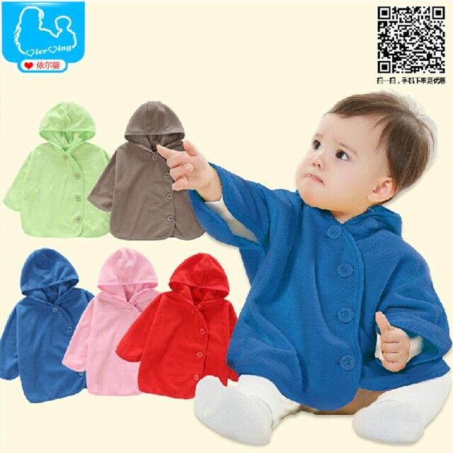 2015 100% Cotton Baby Coat Babe Cloak Cape Outwear Infant Baby Coat Children's Clothing(5 Color)