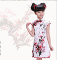 New 2015  Girls Cheongsam Cotton-padded Jacket Chinese Style Straight Elegant Dresses Traditional Chinese Garments