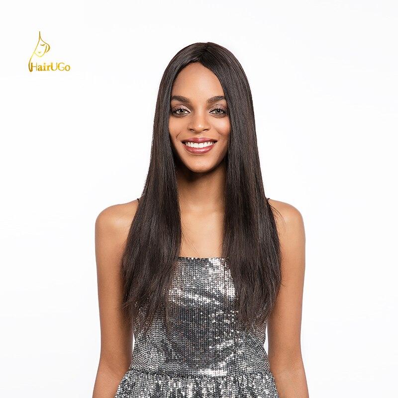 HairUGo Hair 100% Peruvian Straight Human Hair Bundles with Closure Non-Remy 8-26inch Hair Extension 3 bundles with Closure