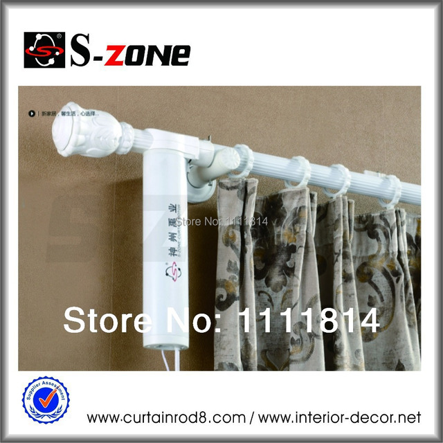 1meter Motorized Curtain Rod System Remote White Electric Motor Drapery
