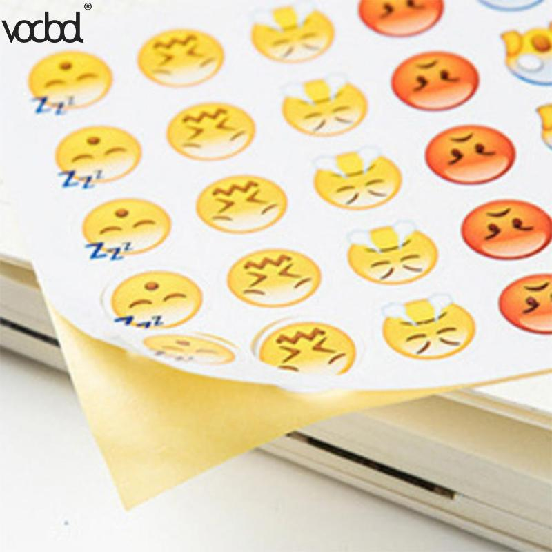 12 Sheets Of 660 Emoticons Stickers Kid DIY Note Message Mood Expression Teacher Reward Emoji Sticker Notebook Decoration Hot