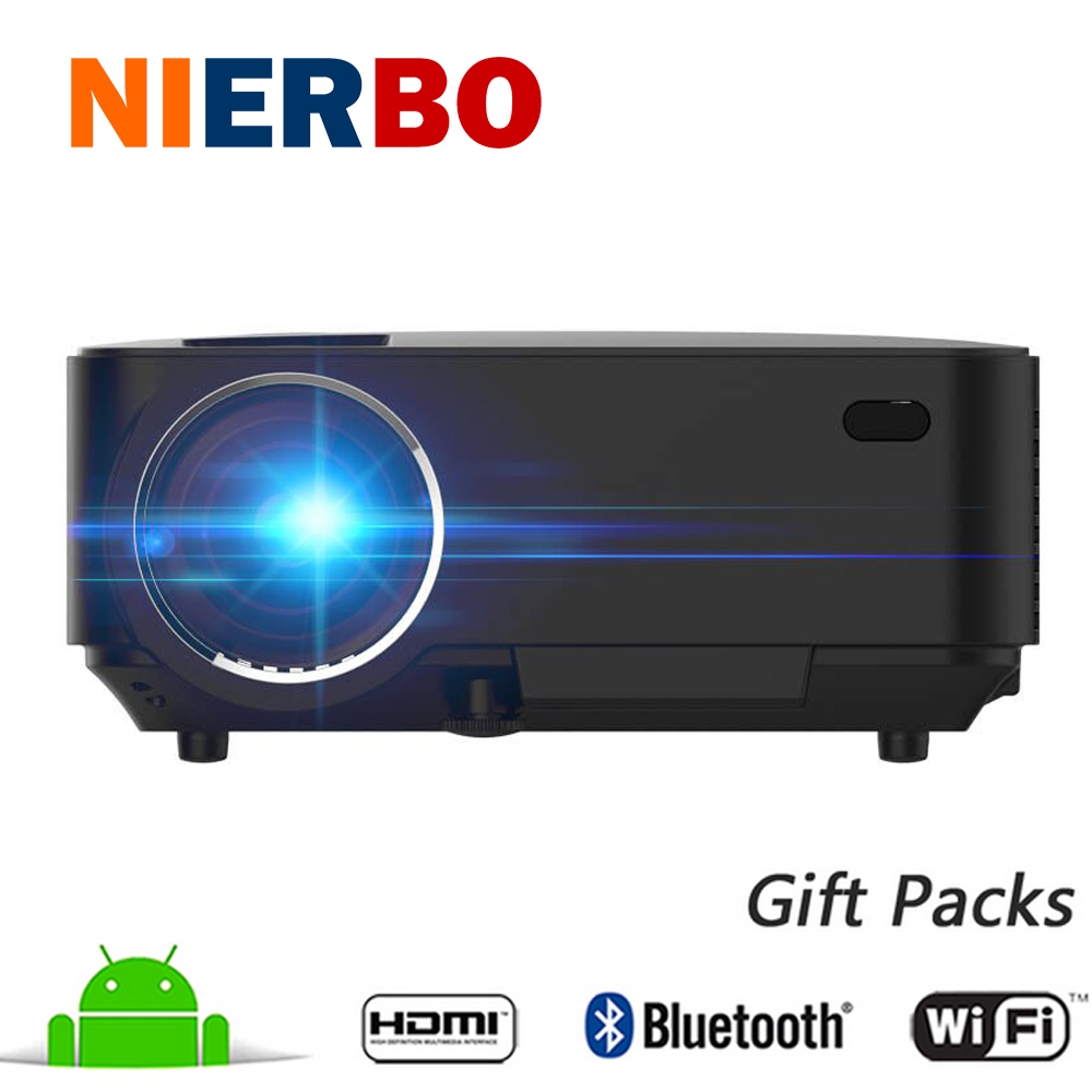 Bluetooth wireless projector 1500 lumens android wifi long for Miroir hd wireless mini projector