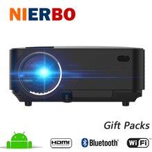 Bluetooth Sans Fil Projecteur 1500 Lumens Android WiFi Longue durée de vie LED 1080 P Full HD Projecteur Home Cinéma TV Beamer HDMI USB AV