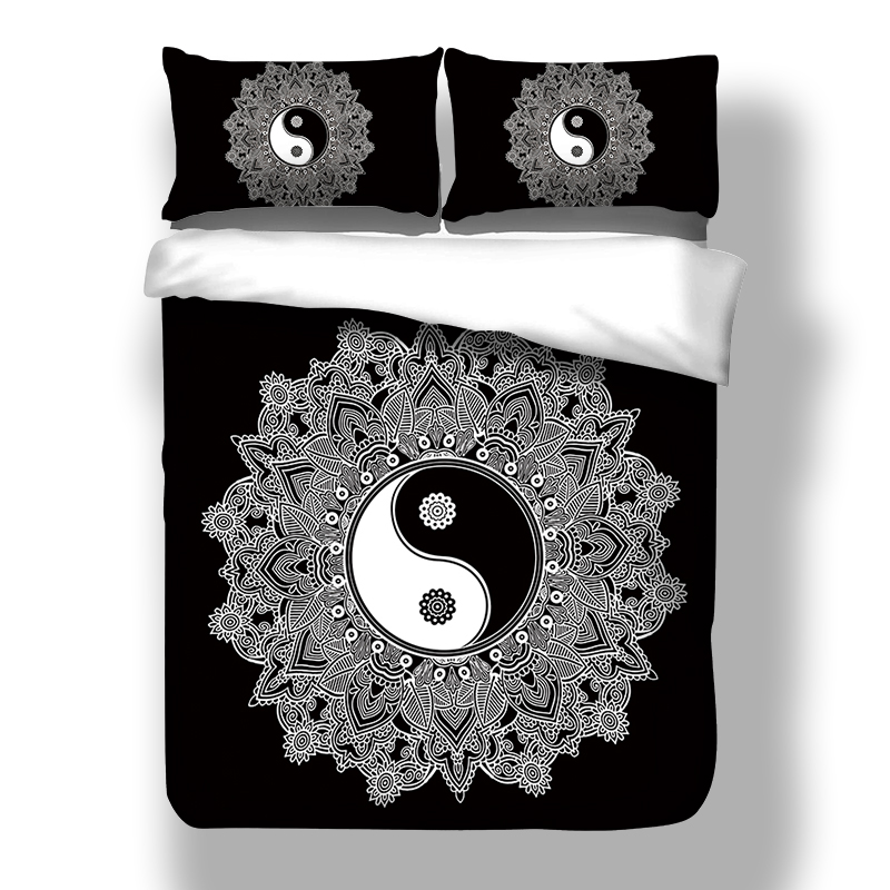 yinyang duvet cover pillow cases twin full queen king size bohemia elephant mandala quilt cover. Black Bedroom Furniture Sets. Home Design Ideas