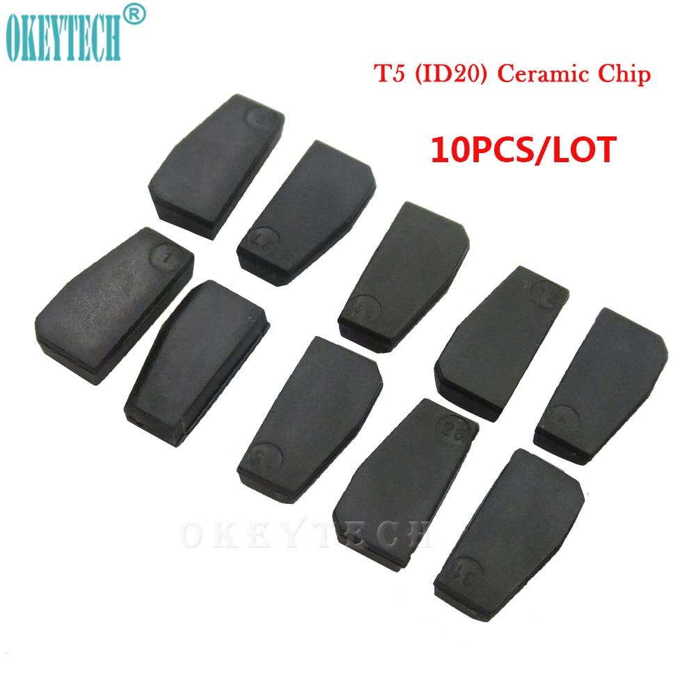 OkeyTech 10pcs/lot Best Car Key Chip T5- ID20 Ceramic for Car Key Transponder Key ID T5 Transponder Chip Copy to ID 11 12 13 33 okeytech 10pcs lot best car key chip t5 id20 ceramic for car key transponder key id t5 transponder chip copy to id 11 12 13 33