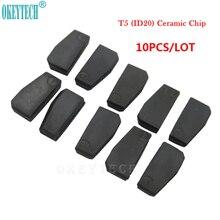 OkeyTech 10pcs/lot Best Car Key Chip T5- ID20 Ceramic for Car Key Transponder Key ID T5 Transponder Chip Copy to ID 11 12 13 33