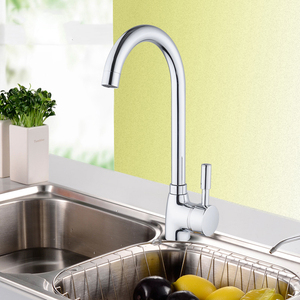 SHAI 304 stainless steel Single Handle Single Hole Kitchen Faucet Mixers Sink Tap Kitchen Faucet Modern Hot and Cold Water