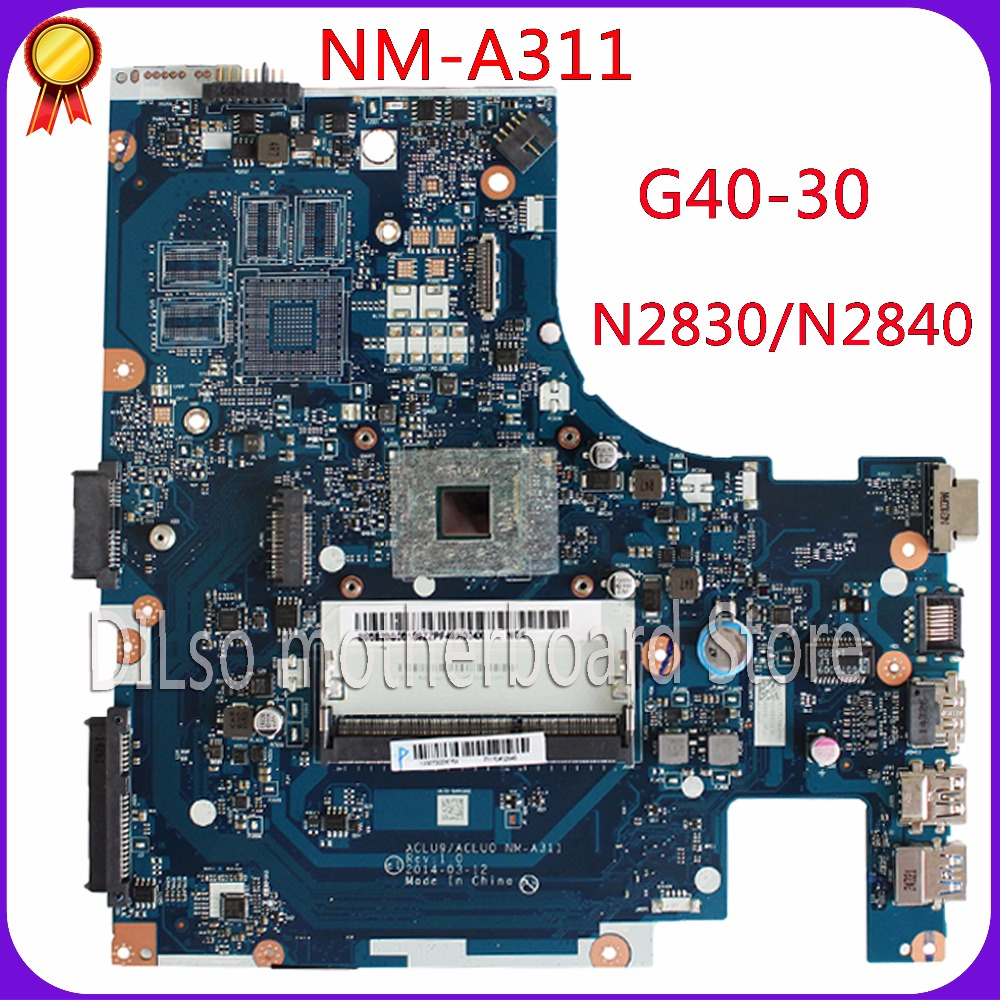 KEFU ACLU9 / ACLU0 <font><b>NM</b></font>-<font><b>A311</b></font> motherboard For Lenovo G40 G40-30 Laptop Motherboard Test motherboard DDR3 with N2830 CPU Onboard image