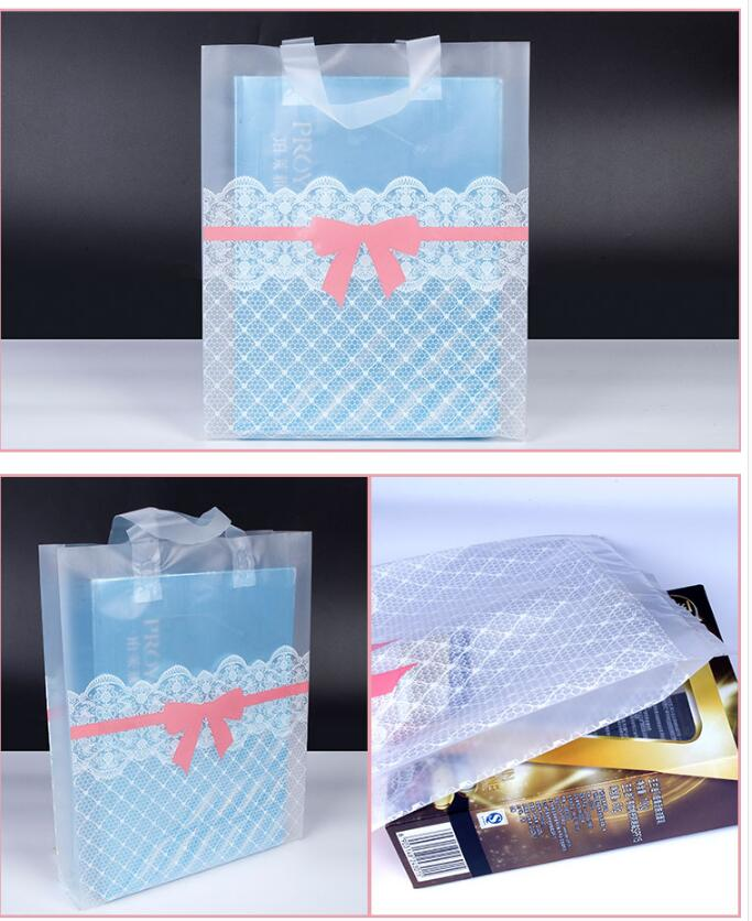 38x43cm Large Clear Plastic gift bag with handles,large Striped ...