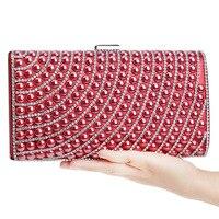 9f480bd74 2018 New Luxury Pearl Clutch Bags Women Purse Diamond Ladies Evening Bags  Shinny Glitter Wedding Bridal. 2018 Novo Luxo Pérola Sacos de Embreagem  Mulheres ...