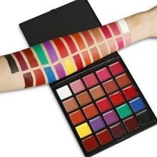 25 цветов, профессиональный макияж, губная помада, палитра, водостойкая, стойкий пигмент, черный, фиолетовый, палитра для макияжа губ