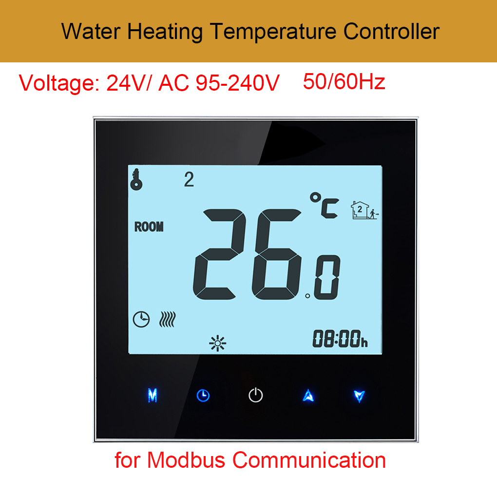 AC95V-240V Digital Touch Screen Programmable Thermostat NTC Sensor Room Temperature Controller for Modbus Communication