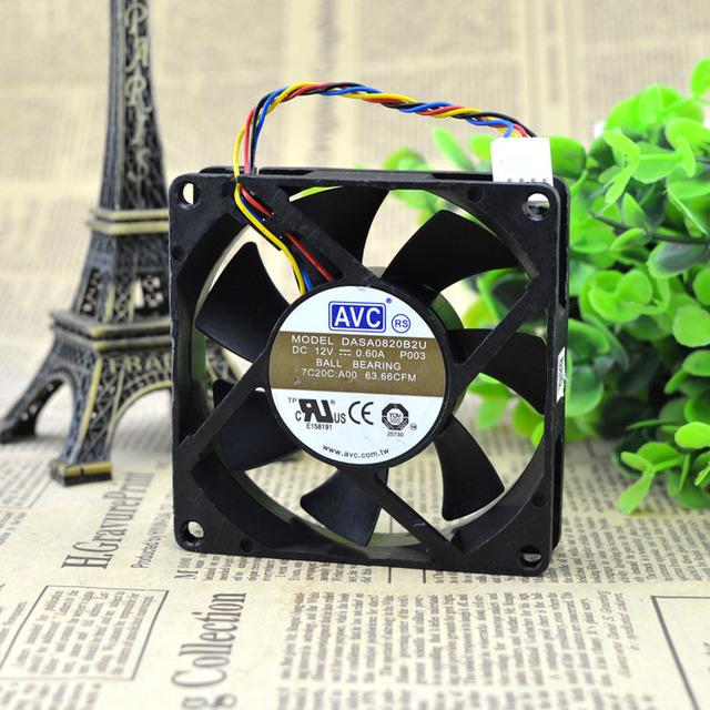 Entrega gratuita. 8020 12 v 0.60 A DASA0820B2U 8 cm 8 cm línea 4 CPU ventiladores de la caja
