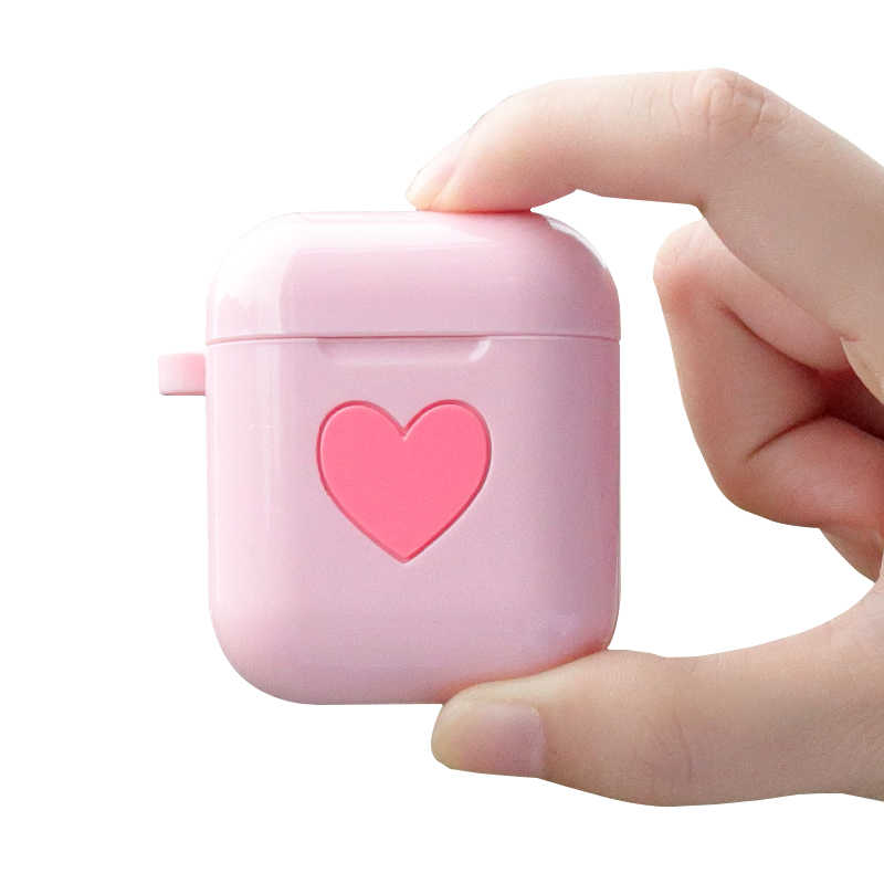 9034e58090a Silicone case for apple airpods anti-fall soft shell diy cute heart-shaped  airpods