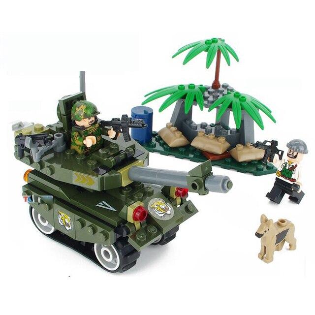 141pcs Military Series Policemen Hunt Fugitive Gun Tank Tree Armored