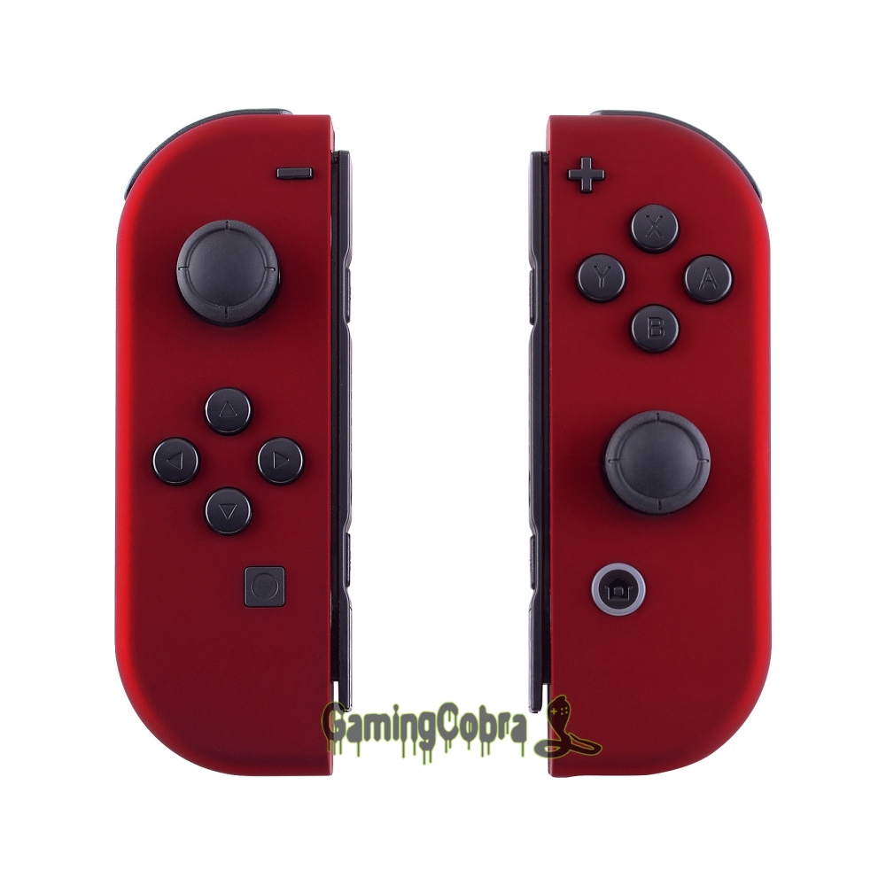 Custom Soft Touch Red Controller Housing With Full Set Buttons DIY Replacement Shell Case For Nintendo Switch Joy-Con - CP302