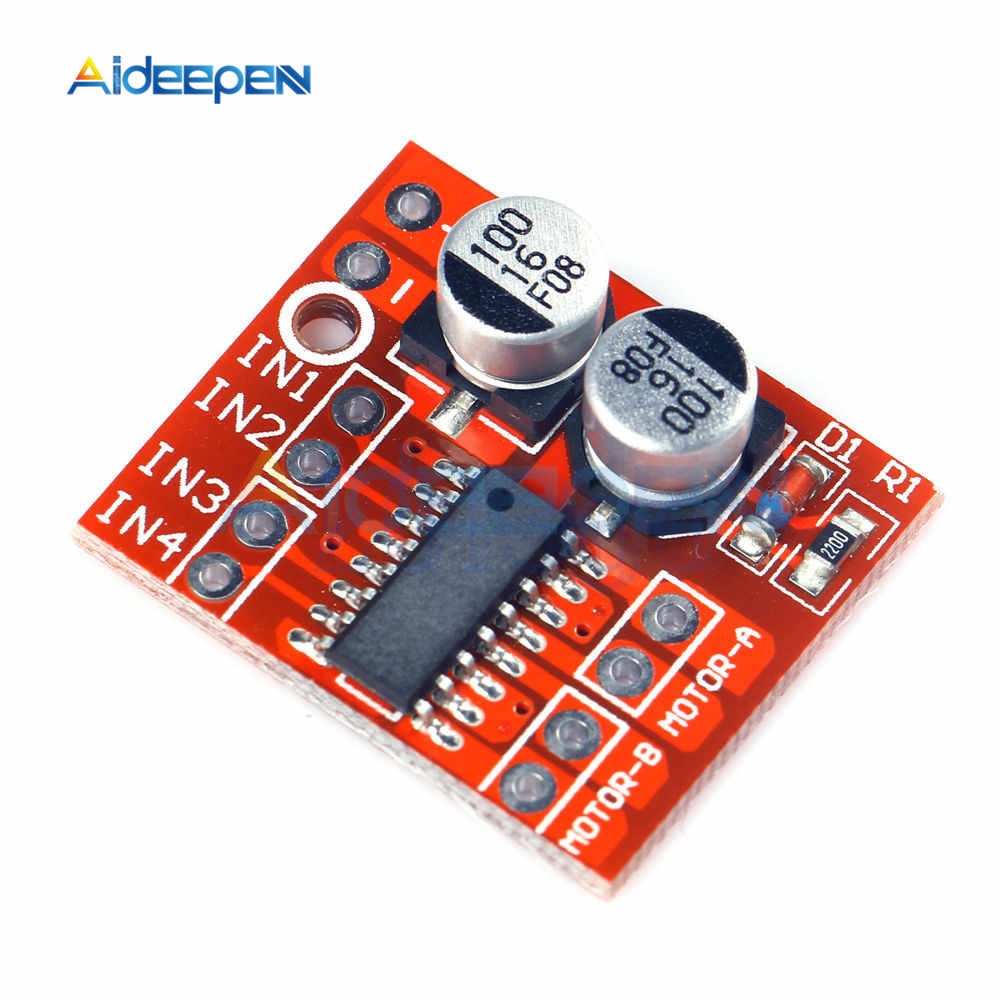 L298N L9110 L298 1.5A 2.5A 2 Way DC Motor Driver Drive Board Module PWM Speed Dual H-Bridge Stepper Low on-resistance MOS Switch