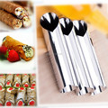 4Sets(=12Pcs) x Cannoli Forms Dessert Pastry Cream Molds Stainless Steel DIY Baking Cake Kitchen Mold Tool