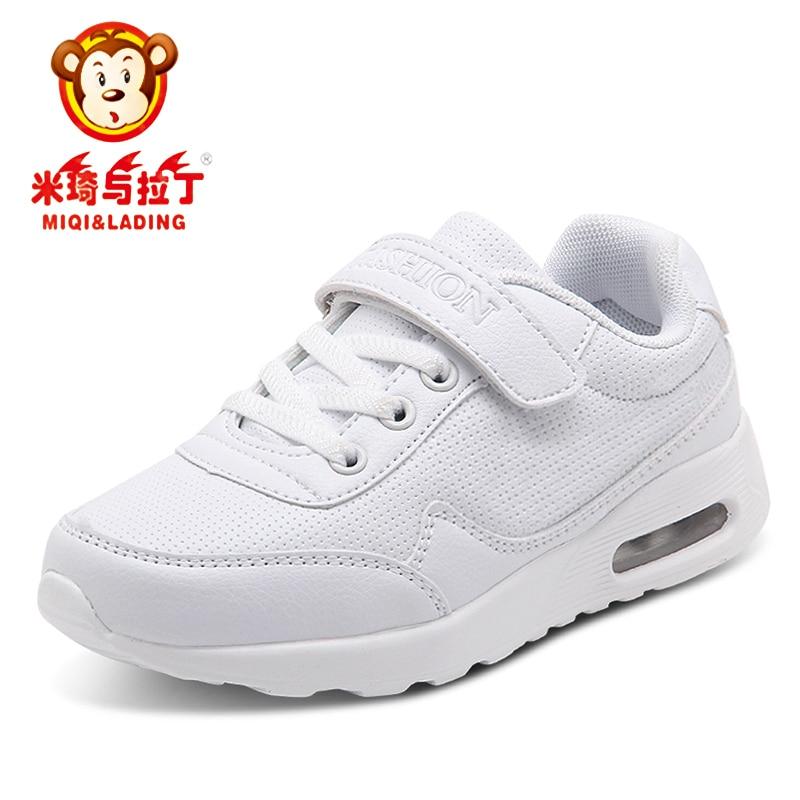 MIQI&LADING Kids Shoes Children Modis Sneakers White For Boys Light Tenis Infantil Sapato Menina Chaussure Enfant Fille Trainers