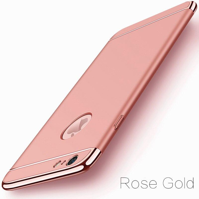 image-1-Coque téléphone Ultra Mince rigide-luxe-pour iPhone-rose-doré