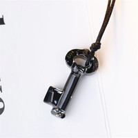 SWAN Fashion Lovers Chain Necklace men Key Crystal Pendants Necklaces High Quality Jewelry Valentine Gifts For Girl Boy Friend