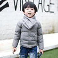 New Winter Boy & Girls Down Jacket Children's Round Neck Parkas Coats Detachable Scarf Baby Jackets Clothes DH-1014