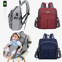 Diaper Bag Multifuntion Mom Backpack With Kids Seat Portable Hand Strap Maternity Bag Mother And Baby Bag