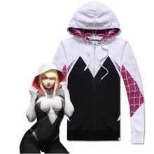 The Amazing Spider-Man Gwen Stacy Cosplay Traje de Spiderman Traje de Halloween para Las Mujeres Mujer Suéter de Algodón