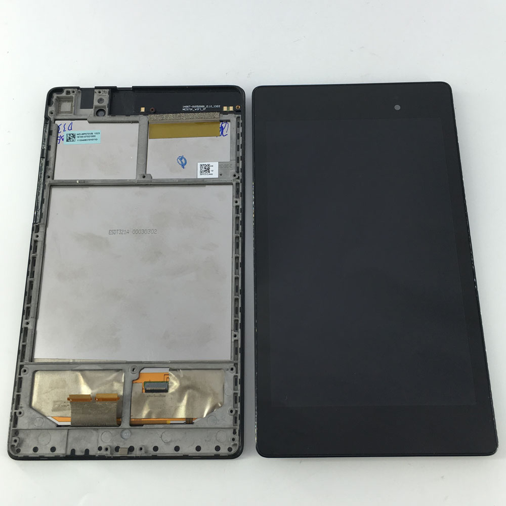 7 inch For Asus Google Nexus 7 2nd Gen 2013 ME571K K008 LCD Screen Display+Touch Screen Digitizer With Frame Wifi Version