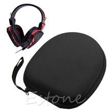 2019 Portable Protective Zip Up Hard Shell Case bag For Large Headphone Headset