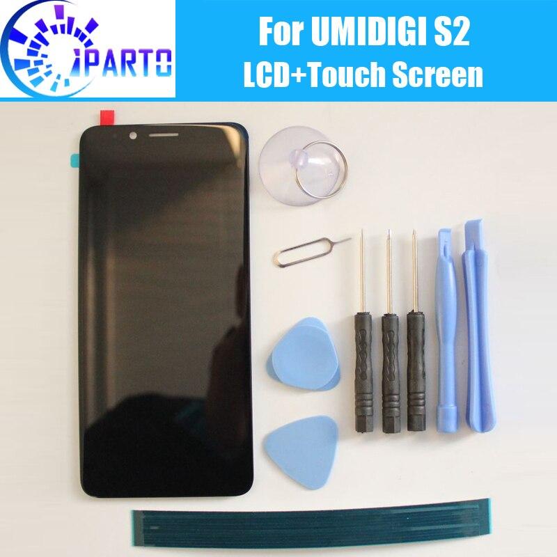 Umidigi S2 ЖК-дисплей + Сенсорный экран 100% оригинал ЖК-дисплей планшета Стекло Панель Замена для UMI S2 + инструмент + клей (без рамки)