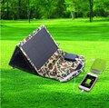 26 w cargador solar portable con (12 v dc y 5 v usb) usb cargador solar para el coche batería, teléfono móvil y el banco de potencia 50000 mah