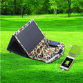 26W Portable Solar Charger with (12v DC & 5V USB)solar usb charger for Car battery , mobile phone and power bank 50000mah