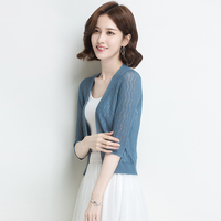 New 2018 summer & spring ladies hollow out thin knitwear cardigan elegant girls sun protection hollow knit outwear