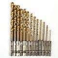 13 pçs/pçs/set ferramentas elétricas brocas de aço hex haste rápida mudança cobalto broca conjunto multi bits 1.5-6.5mm bancada