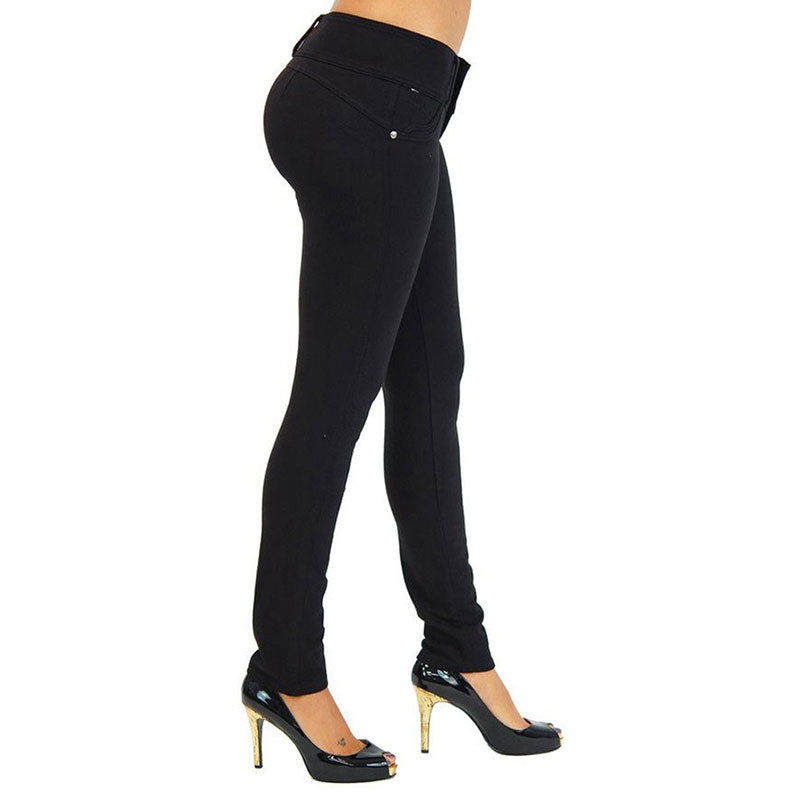 Solid Slim Elastic Trousers Women Casual Zippers Soft Wild Leggings Multi-color Ladies Fashion Pants Large Size Breathable New