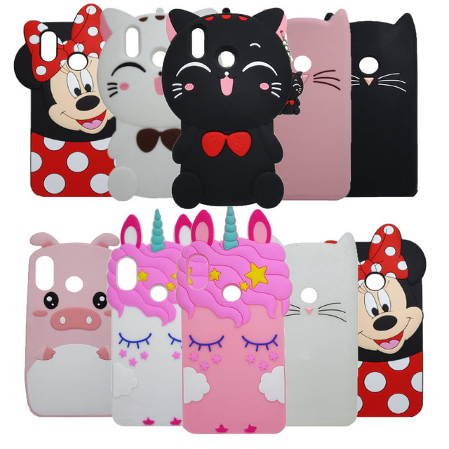 2019Y9 Case For Huawei Y9 2019 Case 3D Cartoon Minnie unicorn Cupcake Silicone Phone Cover Case 2019 For huawei Y9 Fundas