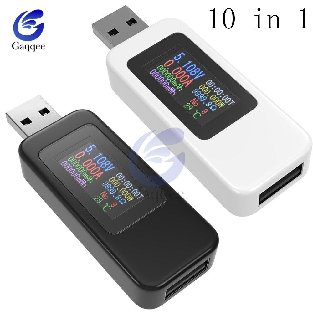 Pantalla LCD a color digital Probador USB Voltaje Corriente probador Cargador USB Probador Medidor de potencia Sincronizaci/ón Amper/ímetro