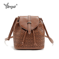 YBYT Brand 2017 New Vintage Casual Hollow Out Floral Women Satchel Hotsale Ladies Shopping Bag Shoulder