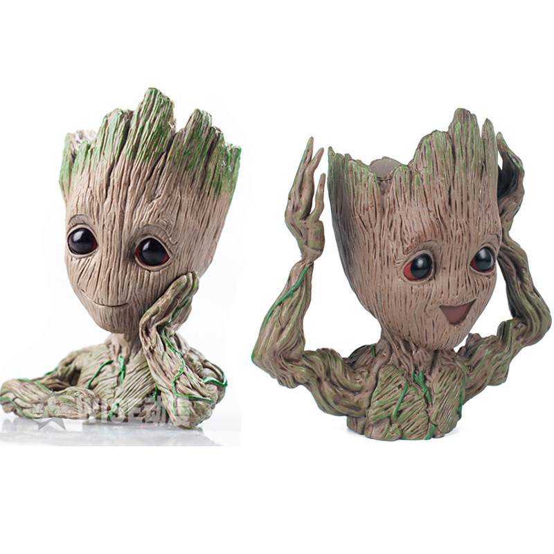 14 cm baby grootted Guardians Of The Galaxy Blumentopf Action-figuren Nette Modell Spielzeug Stift Topf Beste Weihnachten Geschenke Kinder hobbies