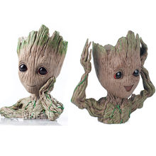 14CM baby grootted Guardians Of The Galaxy Flowerpot Action Figures Cute Model Toy Pen Pot Best Christmas Gifts Kids Hobbies(China)