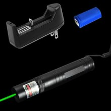 Cheap price 3in1 5mw 532nm Green Laser Pointer Pen Lazer Beam Light + 16340 Battery +Charger