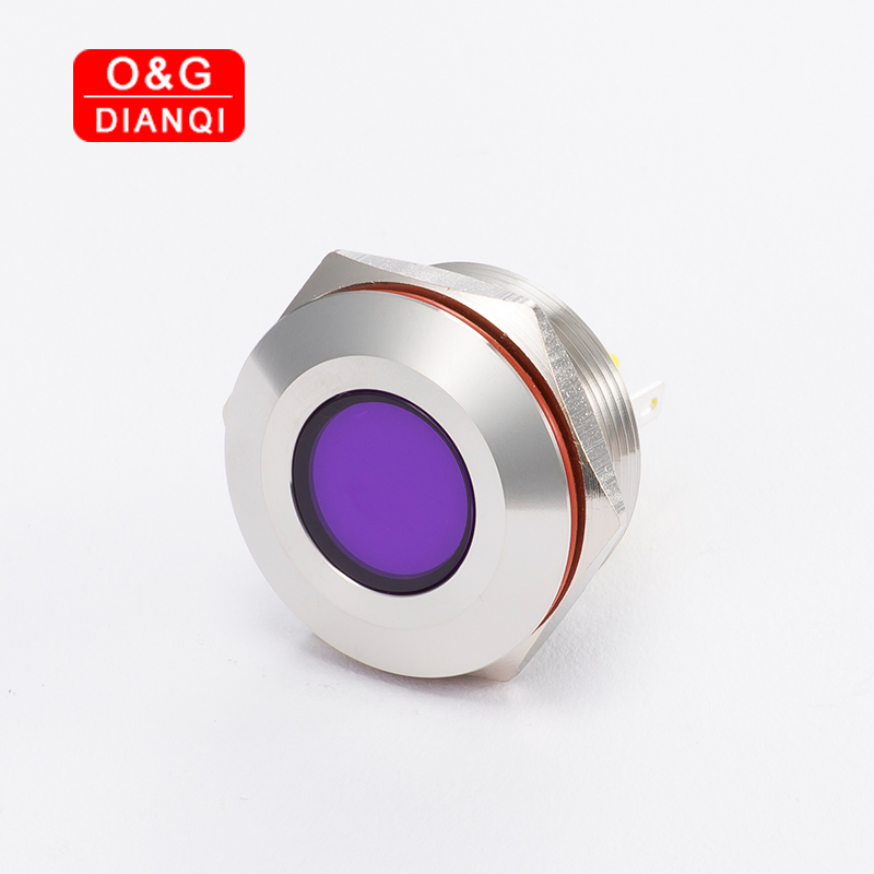 Flashing Led Indicator Light 25mm Metal Flash Pilot 6v 12v 220 Waterproof Blink Stainless Steel Signal Lamp With Wire