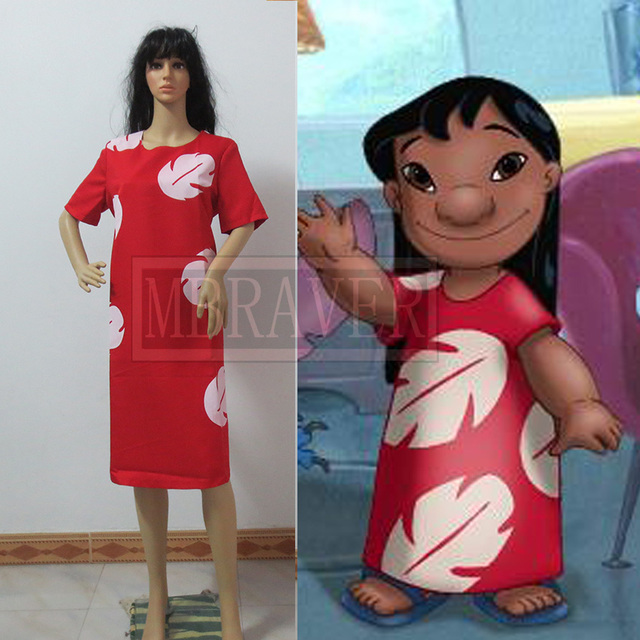 Lilo u0026 Stitch Cosplay Costume Lilo Red Dress Costume  sc 1 st  AliExpress.com & Lilo u0026 Stitch Cosplay Costume Lilo Red Dress Costume on Aliexpress ...
