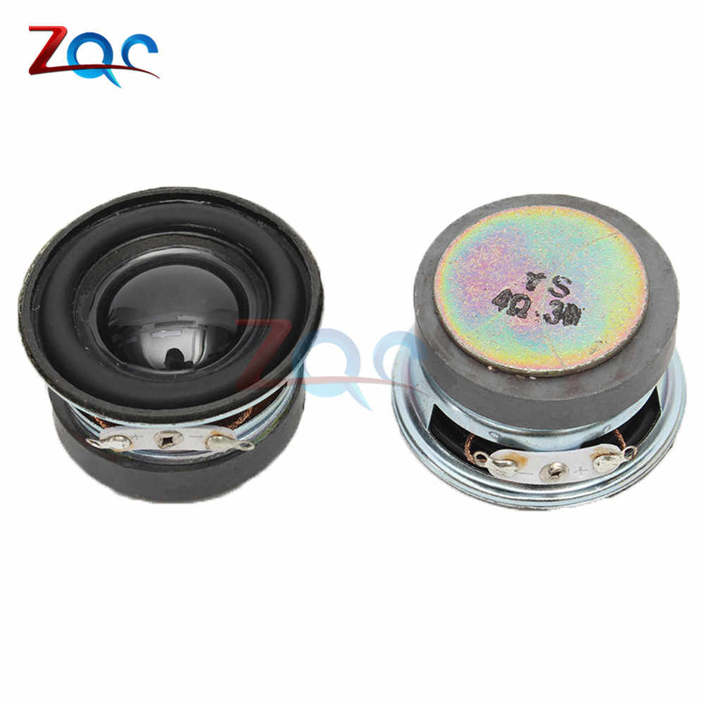 2PCS A lot Acoustic Speaker 4 Ohm 3W 40MM Speaker 36MM External Magnetic Black Hat PU Edge Acoustic Components