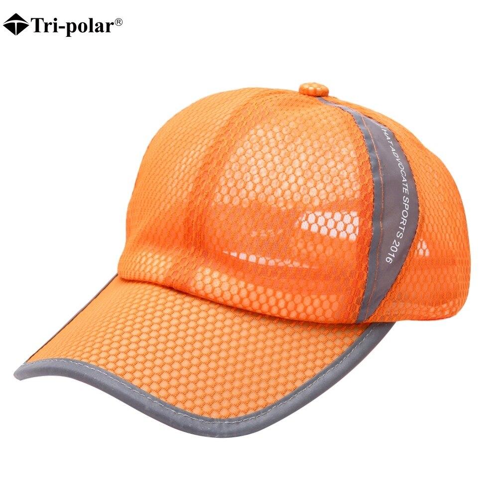 Tri-polar 2018 Unisex Womens Mens Breathable Baseball Running Cap Snapback Hats Summer Adjustable Hat Outdoor