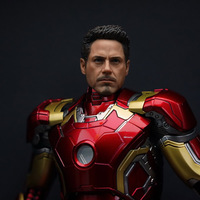 1/6 Scale Iron Men Tony Male Head Sculpt Version Short Hair Head Carving Headplay for 12 Action Figure Body